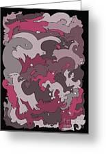 Purple Creatures Greeting Card