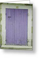 Purple Door Number 46 Greeting Card by Georgia Fowler