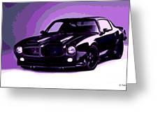 Purple Firebird Greeting Card