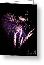 Purple Firework Greeting Card