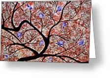 Purple Flowered Tree Greeting Card