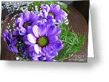 Purple Flowers In The Bubble Greeting Card
