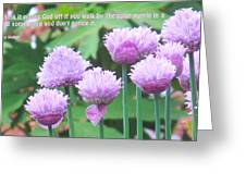 Purple Flowers In The Field Greeting Card