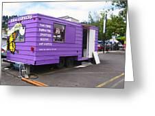 Purple Food Truck Greeting Card