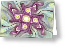Purple Fractalishus Greeting Card