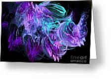Purple Fusion Greeting Card