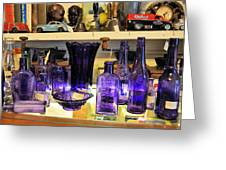 Purple Glass Collection Greeting Card