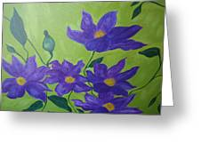 Purple Glory  Greeting Card
