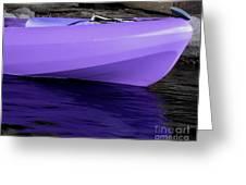 Purple Kayak Greeting Card