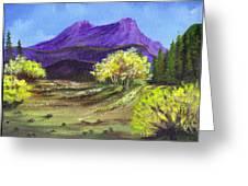 Purple Mountain Beauty Greeting Card by Janna Columbus