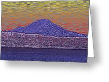 Purple Mountain Majesty Sunset Greeting Card