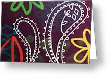 Purple Paisley Garden Greeting Card