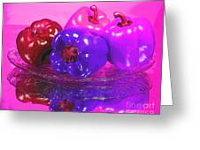 Purple Peppers Greeting Card