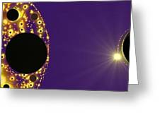 Purple Planet Series  Greeting Card