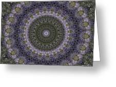 Purple Pleasure Abstract Greeting Card