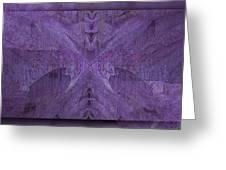 Purple Poeticum Greeting Card
