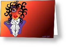 Purple Rain Greeting Card by Artzilla Ink