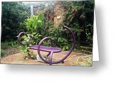 Purple Seat Greeting Card