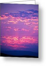 Purple Sky  Greeting Card by Kevin Bone