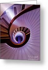Purple Spiral Greeting Card