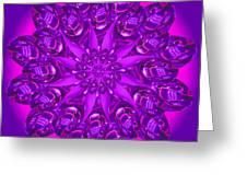 Purple Spoonz Greeting Card by Linda Pope