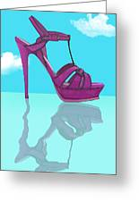 Purple Stilt Stilettos Reflections Greeting Card
