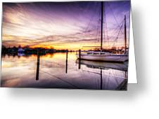Purple Sunrise Greeting Card by Vicki Jauron