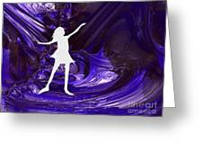 Purple Taffy Greeting Card