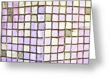 Purple Tiles Greeting Card