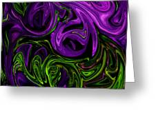 Purple Transformation Greeting Card