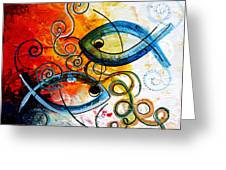 Purposeful Ichthus By Two Greeting Card