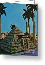 Pyramid Tomb In Cemetary Greeting Card