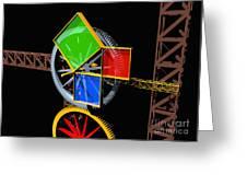 Pythagorean Machine Landscape 1 Greeting Card