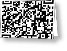 Qr Code Artists Website Greeting Card