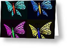 Quad Butterflies Greeting Card