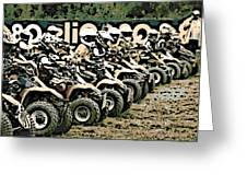 Quad Racers Greeting Card