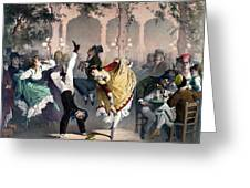 Quadrille At The Bal Bullier Greeting Card