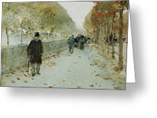 Quai Du Louvre Greeting Card by Childe Hassam
