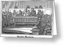 Quaker Marriage, 1842 Greeting Card