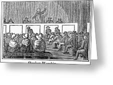 Quaker Worship, 1842 Greeting Card