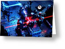 Quantum Cryptography Equipment Greeting Card by Volker Steger