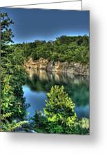 Quarry Of Reflections 2 Greeting Card by Heather  Boyd