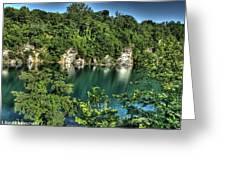 Quarry Of Reflections Greeting Card by Heather  Boyd
