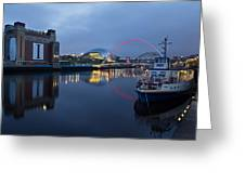 Quayside Landmarks Greeting Card