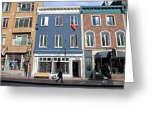 Quebec City Street View Greeting Card