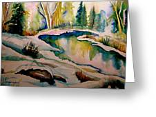 Quebec Winter Landscape Greeting Card