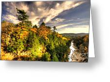 Quechee Gorge In The Fall  Greeting Card