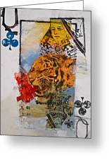 Queen Of Clubs 4-52  2nd Series  Greeting Card