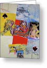 Queen Of Spades 45-52 Greeting Card