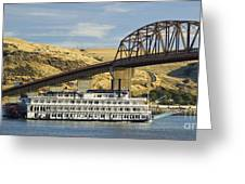 Queen Of The West Paddlewheeler Greeting Card